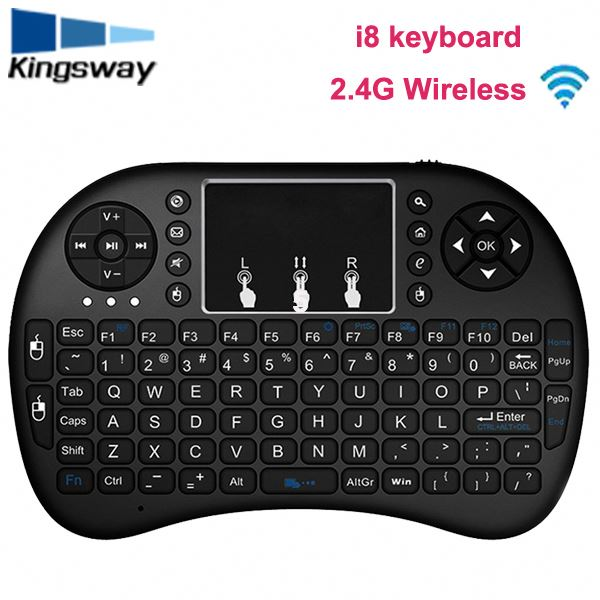 Tops Wireless Keyboard 2.4GHz Portable Mini Wireless Keyboard with Touch Mouse for Android TV BOX,PC,, , HTPC