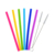 2018 Creative Colorful Food grade silicone straws for Juice milk tea