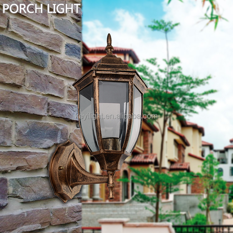 Aluminium Die-casting Porch Light Brass/Black Outdoor Wall lamp Garden Yard wall lighting