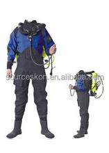 High quality waterproof and breathable dry suit and Kayak diving drysuit