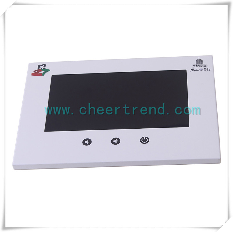 High quality 7 inch lcd igh quality 7 inch lcd screen greeting video brochure with built in 128M (256M 512M 1G 2G 4G 8G) memory