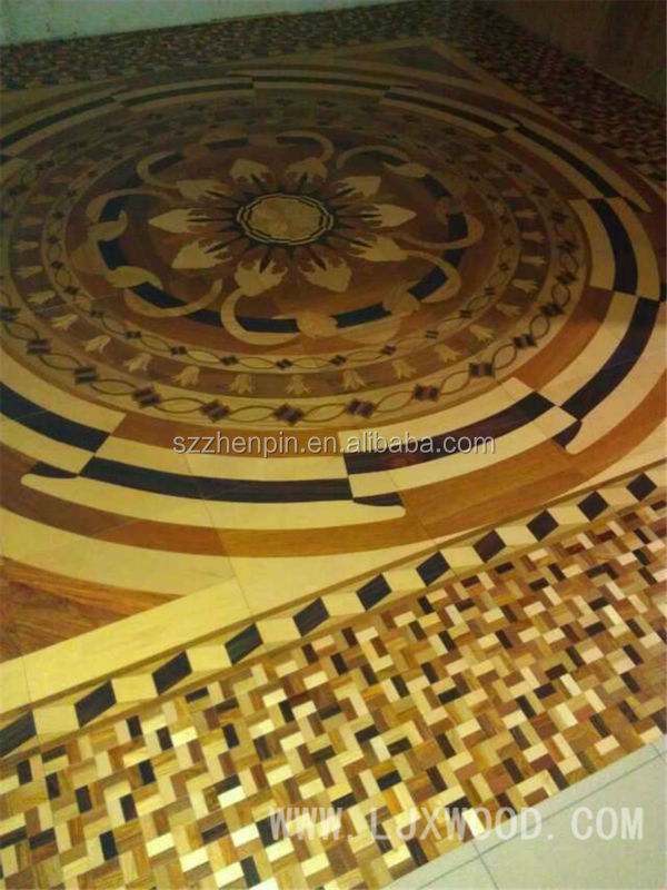 art parquet red wood medallions design flooring wood floors