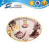 Custom design popular dinner oval plate plastic plates , food compartment tray