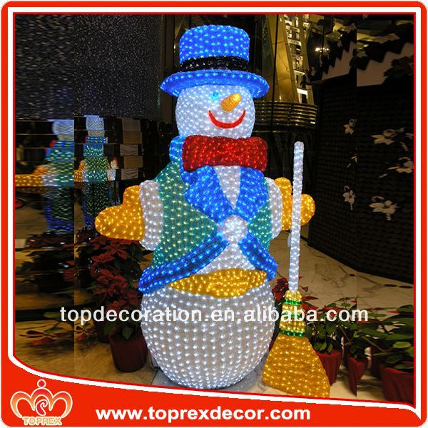High Quality styrofoam snowman decoration