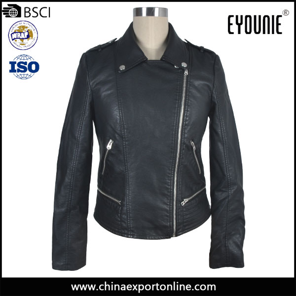 2016 Latest Design Winter Tops Tight Leather Party Jackets Wears