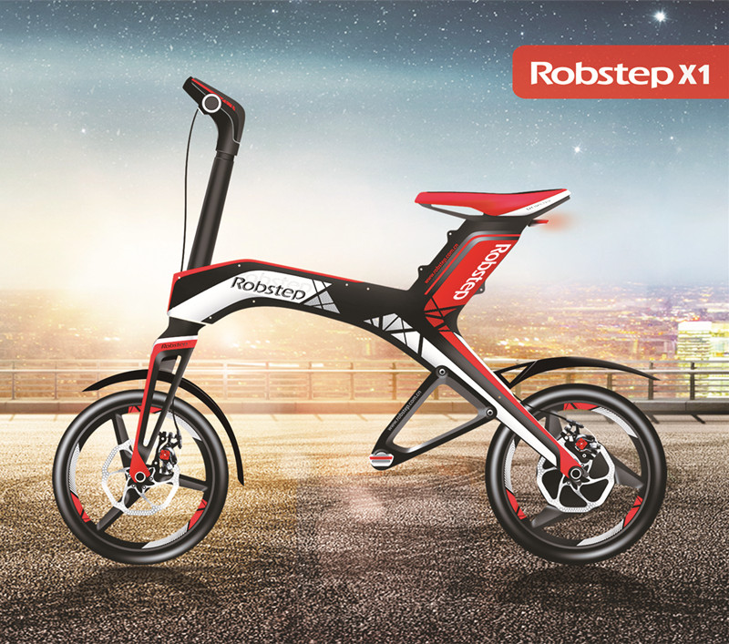 LG Lithium Battery 48V 300W Robstep X1 New Adult Folding <strong>Electric</strong> Bicycle