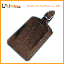Embossed LOGO Travel PU Leather Luggage Tag