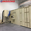 sandblasting room for cleaning big steel structure