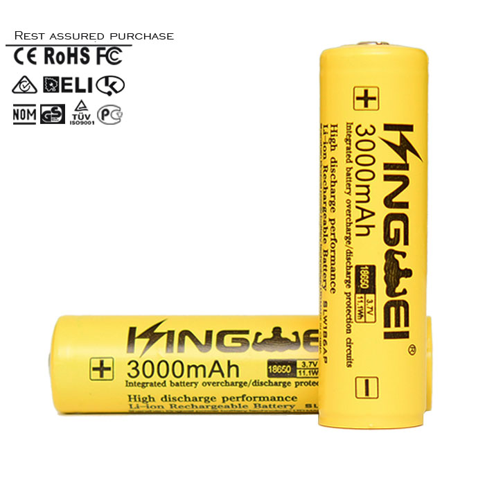 2015 New Brand Kingwei batteries HQ 18650 PCB battery , Batteries with PCB , aw imr 18650 battery with PCB High Quality battery