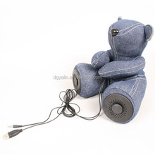 high quality plush toy bear shape battery-operated bluetooth speaker wireless for computer & portable mp3 player