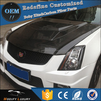 Modify Luxury Carbon Fiber Auto Front Engine Hood for Cadillac CTS-V 2013 2014