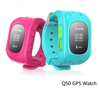 Child Q50 OLED GPS Tracker SOS Smart Monitoring Positioning Phone Kids GPS Watch Compatible with IOS & Android