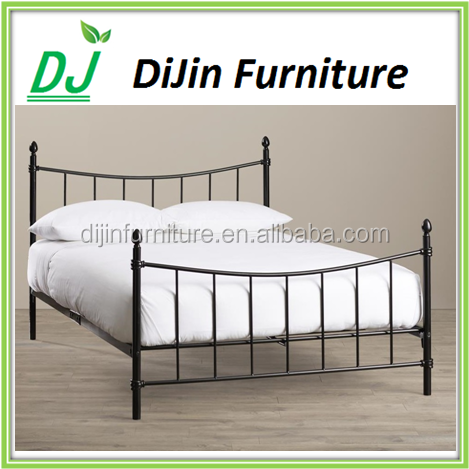 Metal Panel Bed Headboard Footboard Rails Included Black Finish Queen Size Bed