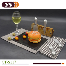 factory hot sale magnetic cheese knife holder with S.S cheese knife set