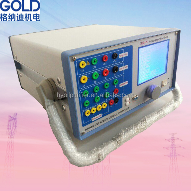 High Accuracy Microcomputer Electrical Relay Protection Tester