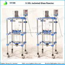 100L Jacketed Lab Reactors Lab Double Neck Glass Reaction Kettle Glass Reactor Vessel