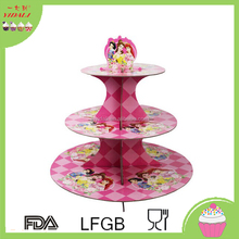 Colorful high quality 3-layer cake stand