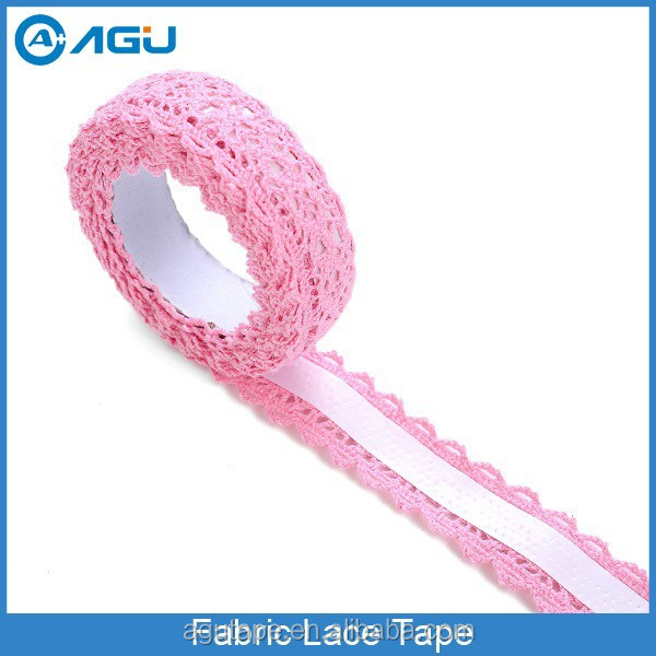 Wholesale Excellent Quality Single Color Fabric Lace Tape