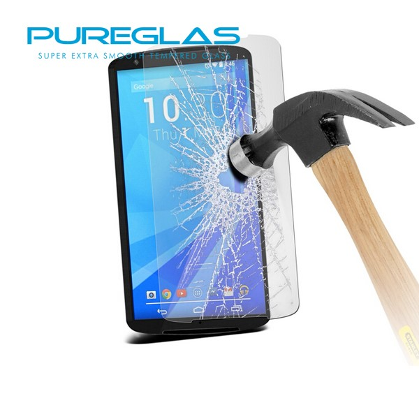 9h Ultra Smooth fingerprint resistant custom made tempered glass screen protector for Motorola moto Nexus 6