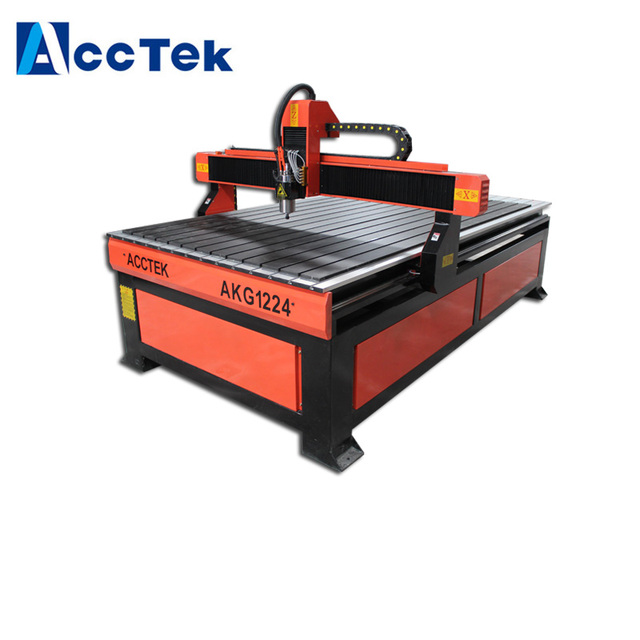 Jinan AccTek Easy operate 4x8 ft cnc router for aluminum wood MDF / cnc router machine woodworking
