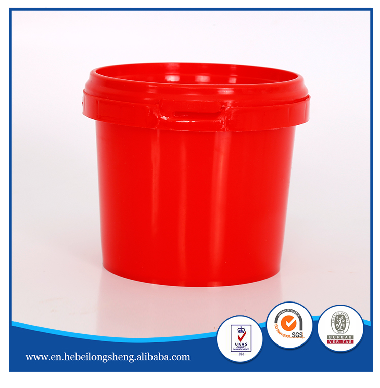 food grade 3.2 liter clear high quality plastic bucket