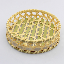 New product storage artificial rattan fruit basket for wholeslae
