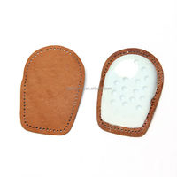 Massaging leather heel grips for shoes insoles