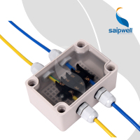 Saip Saipwell DS-AT-0609 65*95*55 High Quality PC Plastic Clear Cover Case Waterproof Electronic IP68 Junction Box