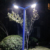 Double head garden yard top led lamp garden lighting pole light
