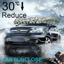 SUNCLOSE Factory umbrella tents sale eyes car sun shade polyester material