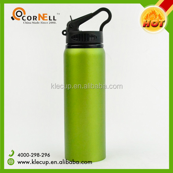 Hot sell Eco-Friendly aluminum sport drinking water bottle with Heat Transfer Logo & staw inside