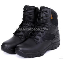 Jiulong Factory Delta Force Black Color Genuine Leather Combat Outdoor Shoes Military Boots