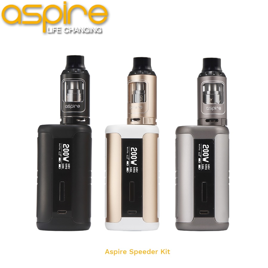 Newest ecigs Aspire Speeder 200W mod and 4ML | 2ML Athos tank in Aspire Speeder 200W Kit first batch