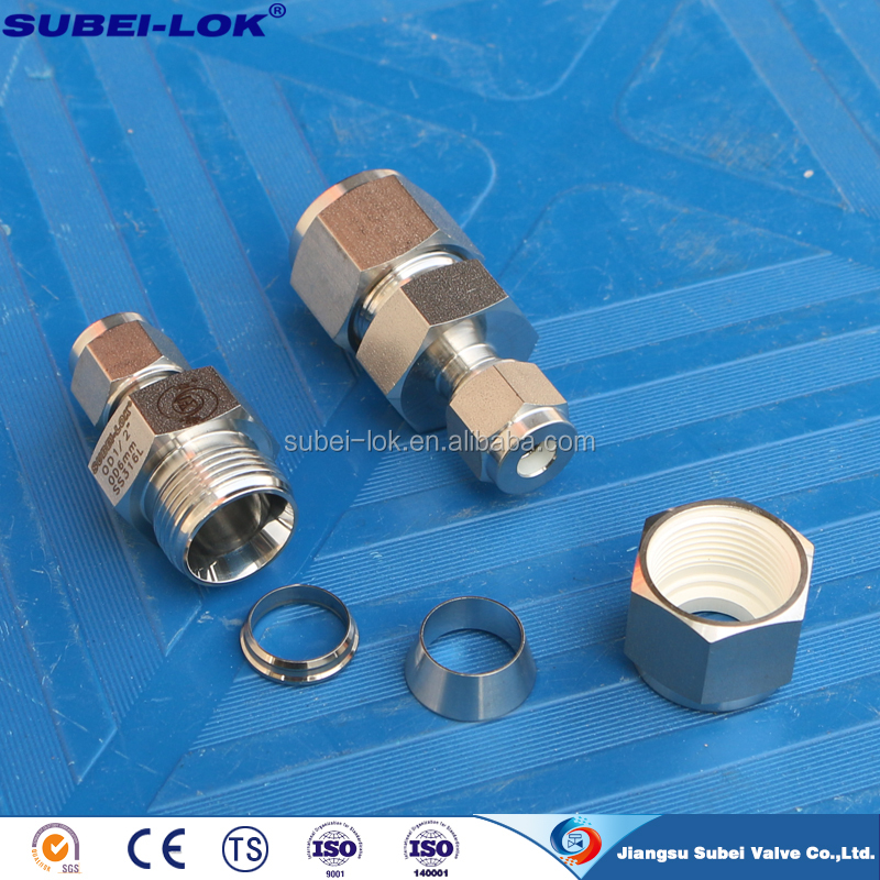 high pressure instrument double ferrule tube connector tubing compression fitting