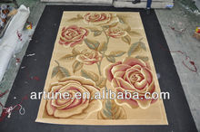 Machine made hand jacquard area rugs