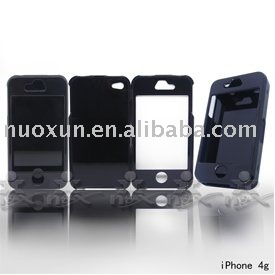 Black hard PC cover case for T-Mobile IPhone 4