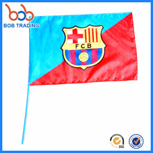 favorite shape shaking stick football fan hand flag cheap price hand flag
