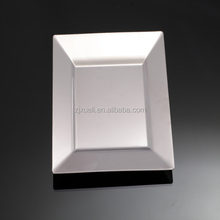 silver coated square disposable plastic plates