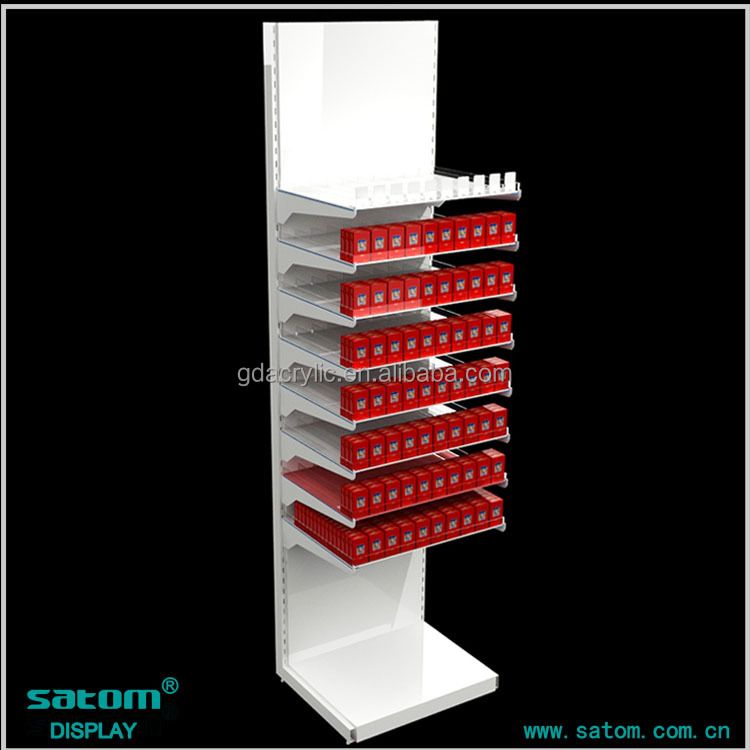 Free Standing 8-Tier Retail Display Racks For Cigarette