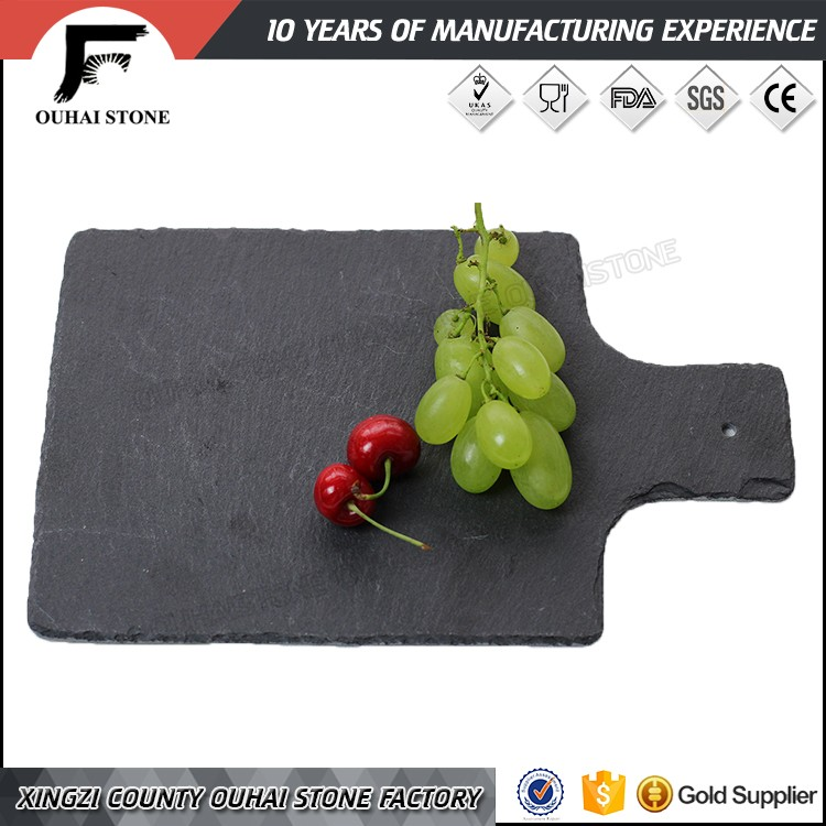 Natural top sale black restaurant slate dinner tableware