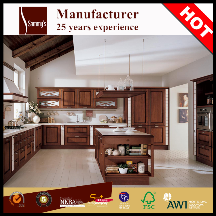 SK113 China cheap unfinished mahogany wood door kitchen cabinets wholesale
