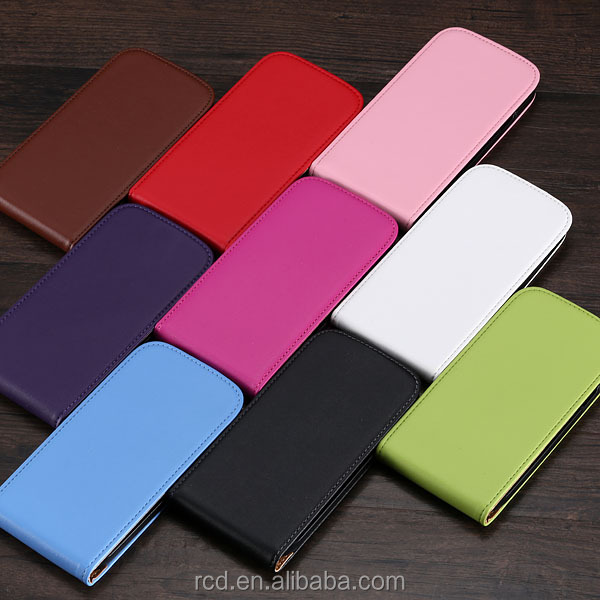 Colorful Genuine Real Leather Flip Phone Cover Case For Samsung Galaxy S4 S3 i9500 i9300 Phone case