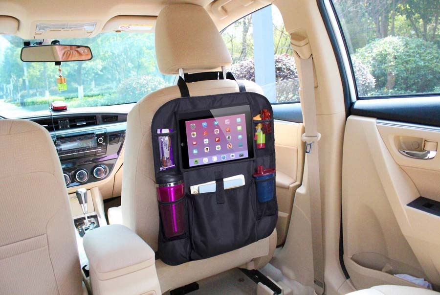 2017 amazon hot selling OEM Touch Screen Tablet Holder backseat car seat organizer