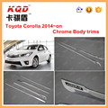 Auto accessories toyota corolla altis 2014 side body trims plastic side body molding trims for toyota altis