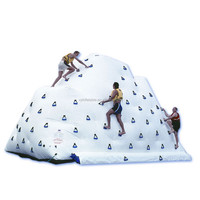 float new inflatable water rock climbing walls