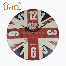 M1201 funny design power wall clock decorative for bedroom
