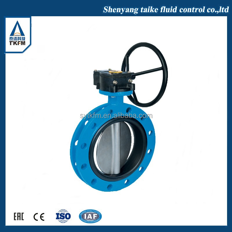 2017 TKFM low pressure wafer connection 6 inch motorized butterfly valve for sea water