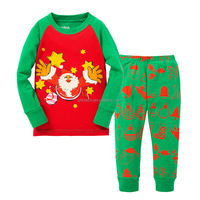 Kids Christmas Pajamas Set Children Pajama For Girls 2-7 Years Girls Sleepwear Baby Pyjama Set Toddler Boys Girls Clothing Set