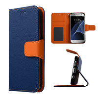 C&T Stand Card Holder Slot Design Flip Folio PU leather wallet case For Samsung Galaxy S7