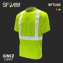 new design drop needle polycotton crew neck t shirt hi visibility reflective safety shirts workwear for men construction uniform
